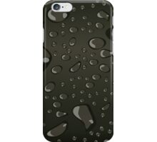 Water Droplets Black iPhone Case/Skin
