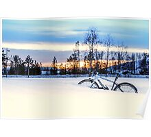 A Snowy Bike Ride Poster
