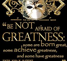 Shakespeare Twelfth Night Greatness Quote by Sally McLean