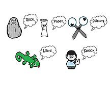 Rock, Paper, Scissors, Lizard, Spock by mollsmonster