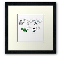 Rock, Paper, Scissors, Lizard, Spock Framed Print