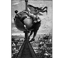 The Big Fight at the Top of the Flushing Steeple.. Photographic Print