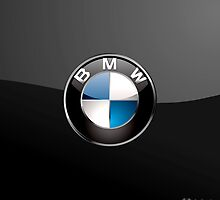 BMW 3D Badge-Logo on Black by Captain7