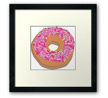 Pink delicious donut Framed Print