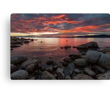 Close of the Day - Lake Tahoe Canvas Print