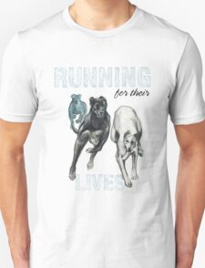 Running for their Lives Greyhound Tee T-Shirt