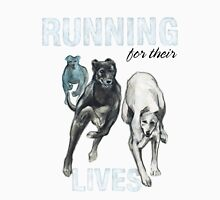 Running for their Lives Greyhound Tee Unisex T-Shirt