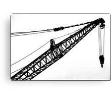 Crane & Starlings Canvas Print