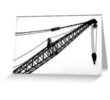 Crane & Starlings Greeting Card