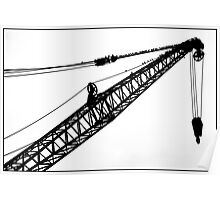 Crane & Starlings Poster