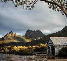 Dove Lake Boatshed by Mieke Boynton