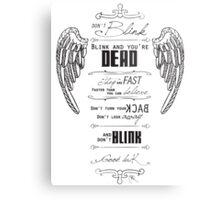 Don't blink. Metal Print