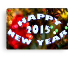 Happy New Year! - 2015 Canvas Print