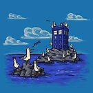 The Seagulls have the Phonebox by Karen  Hallion