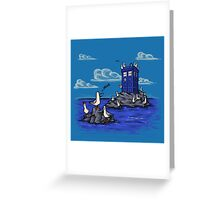 The Seagulls have the Phonebox Greeting Card