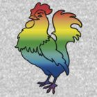 Gay Rainbow Cock t-shirt by toddalan
