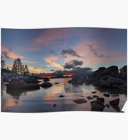 Colorful Dusk - Sand Harbor  Poster