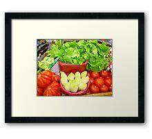 Fresh French Food Framed Print