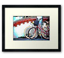 Byron bicycles.... Framed Print