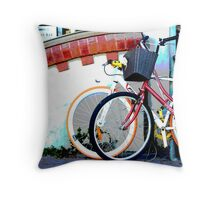 Byron bicycles.... Throw Pillow