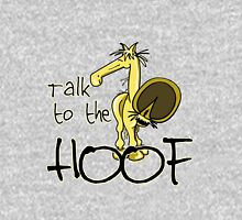 Talk to the Hoof - for dark colors Womens Fitted T-Shirt