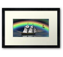 Story Book Voyage Framed Print