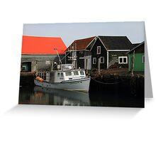 Peaceful Sandford Fishing Boat Scene Greeting Card