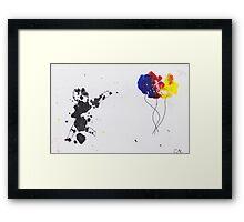 Chasing Balloons Framed Print