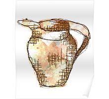 Mixed Media Textile Jug Poster