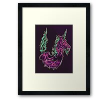 U is for Undead Unicorn Framed Print