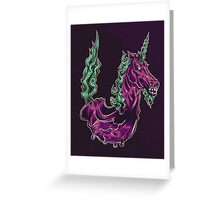 U is for Undead Unicorn Greeting Card