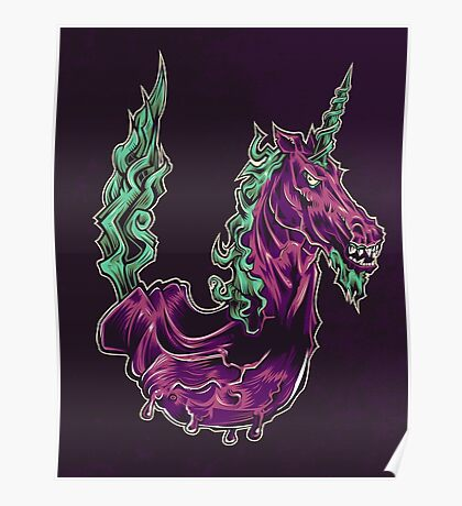 U is for Undead Unicorn Poster