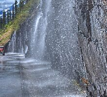 Weeping Wall - Glacier National Park by JamesA1