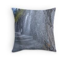 Weeping Wall - Glacier National Park Throw Pillow