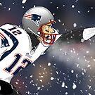 Tom Brady Together We Make Football Print by heidijogilbert