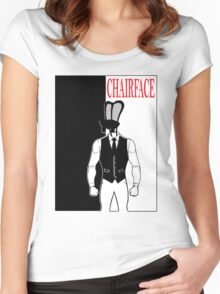 The Tick chairface scarface Women's Fitted Scoop T-Shirt
