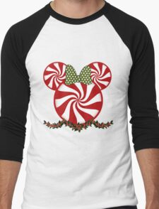 Peppermint Minnie Men's Baseball ¾ T-Shirt