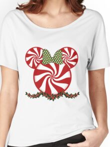 Peppermint Minnie Women's Relaxed Fit T-Shirt