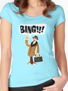 BING!!!-1 Women's Fitted Scoop T-Shirt