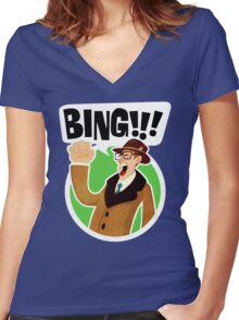 Bing!!!-2 Women's Fitted V-Neck T-Shirt