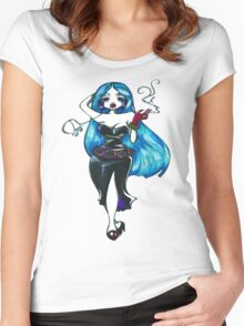 Blue Hair Women's Fitted Scoop T-Shirt