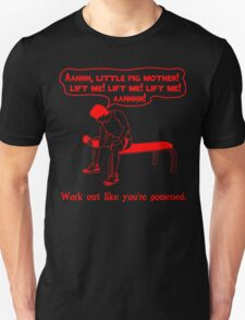 Funny Lifting Quotes - Work Out Like You're Possessed - red Unisex T-Shirt