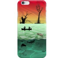 Phone case: Canoe Fishing in the Ardennes iPhone Case/Skin