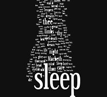 Shakespeare's Sleep Words Mens V-Neck T-Shirt