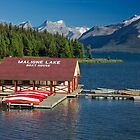 Maligne Lake Boathouse 3 by Charles Kosina