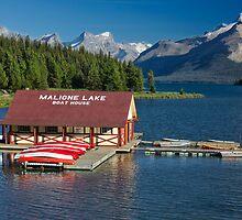 Maligne Lake Boathouse 3 by Charles Kosina