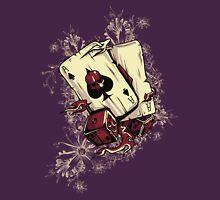 As Poker Skull Flames Unisex T-Shirt