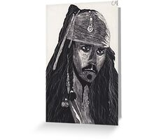 Capt. Jack Sparrow Greeting Card