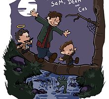 Sam, Dean, and Cas by Kiki Jenkins