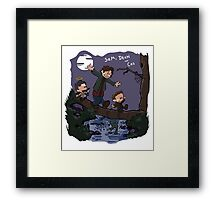 Sam, Dean, and Cas Framed Print
